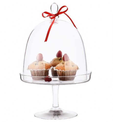 Bell Cake Stand & Dome 37cm